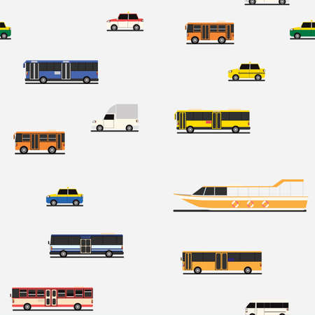 White paper wrap with design of many car and public transportation vehicle.