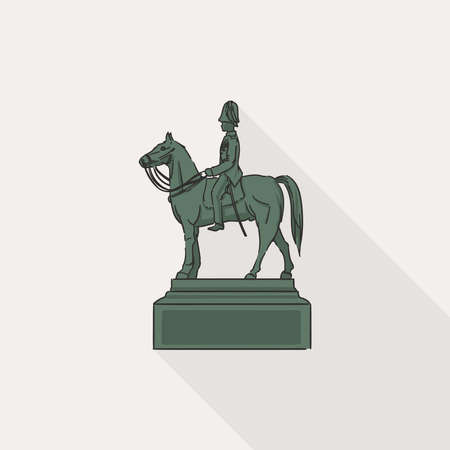 The Equestrian Statue of King Chulalongkorn, the important statue in Thailand referring to King Rama V, the greatest king of Thailand.