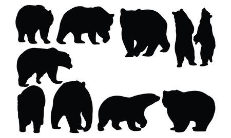クマのシルエット ベクトル図
