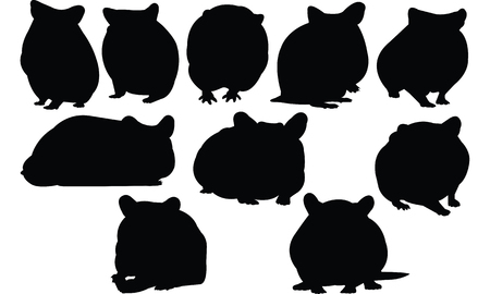 Hamster Silhouette vector illustration