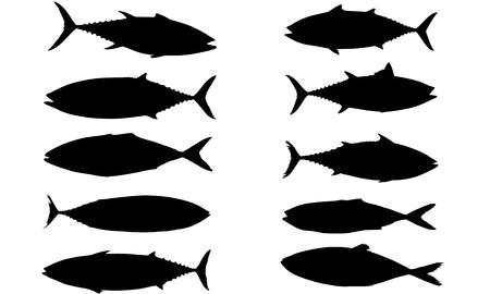 Tuna silhouette illustration Illustration