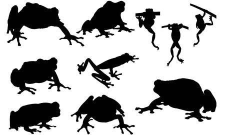 Tree frog silhouette illustration