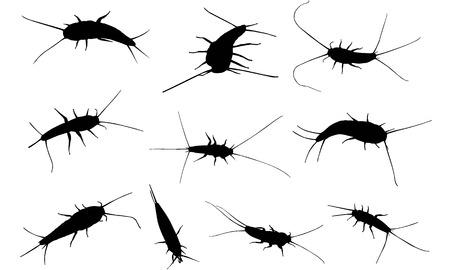 Silver fish silhouette illustration Illustration