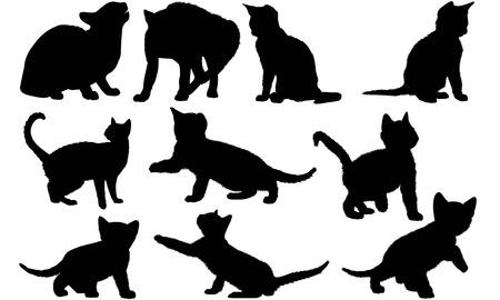 Egyptian Mau Cat silhouette illustration
