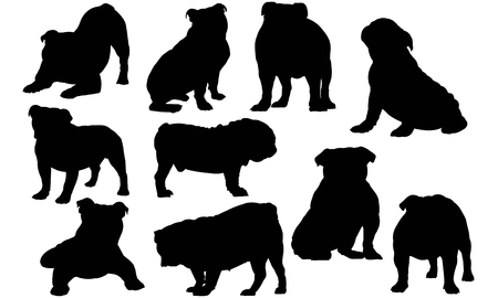 Bulldog silhouet illustratie