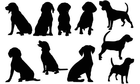 Beagle Dog silhouette illustration