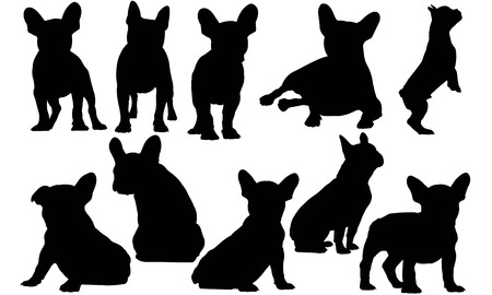 Franse Bulldog Dog silhouet illustratie