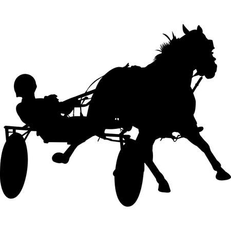Harness Racing Silhouette Vector