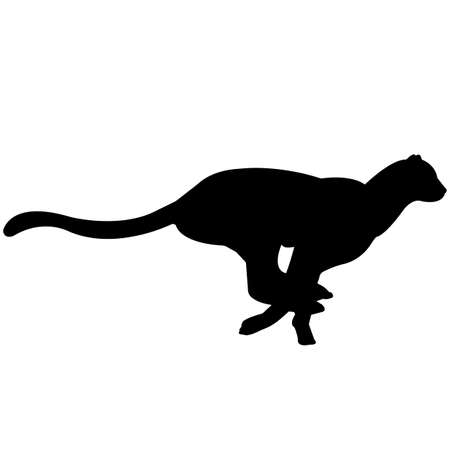 Cheetah Silhouette Vector Graphics