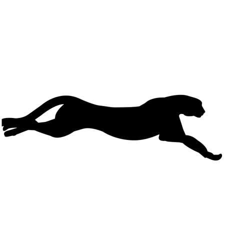 Cheetah Silhouette Vector Graphics 免版税图像 - 157907562