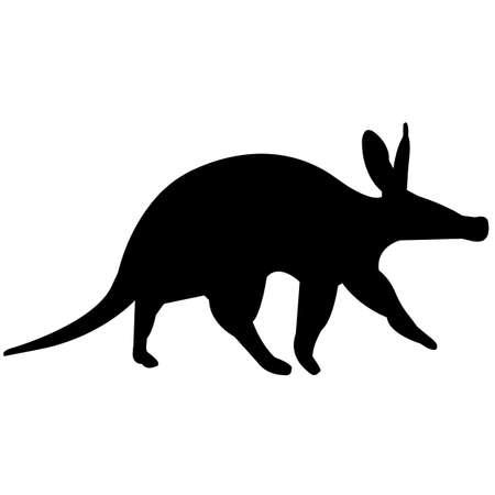 Aardvark Silhouette Vector Graphics