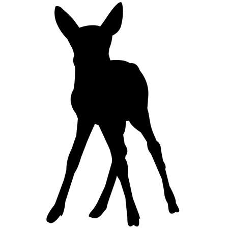 Deer Silhouette Vector Graphics 矢量图像