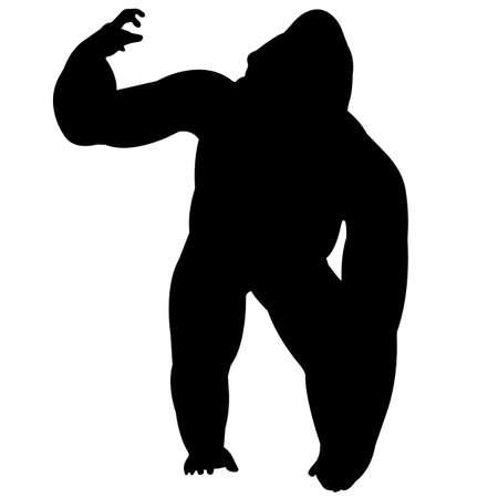 Gorilla Silhouette Vector Graphics Illustration