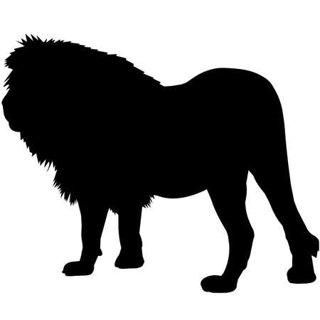Lion Silhouette Vector Graphics 矢量图像
