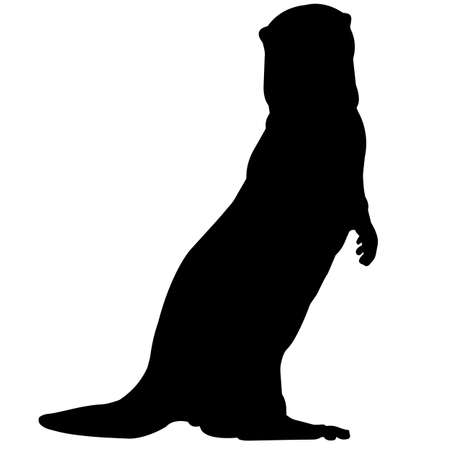 Otter Silhouette Vector Graphics 矢量图像
