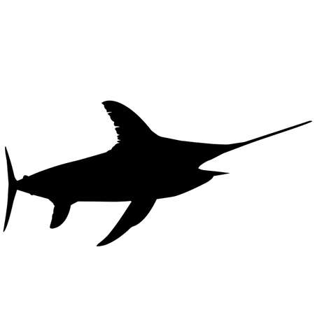 Sword fish Silhouette Vector Graphics