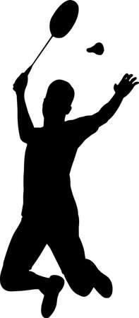 Badminton - Men 10 isolated vector silhouette