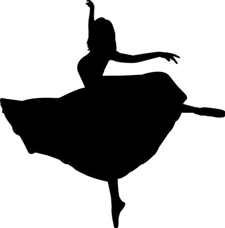 Ballet 4 isolated vector silhouette