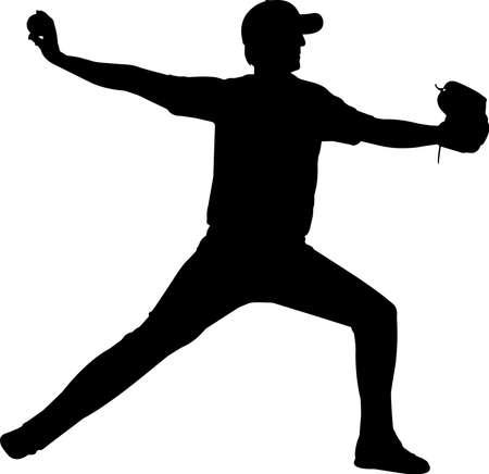 Baseball 7 isolated vector silhouette