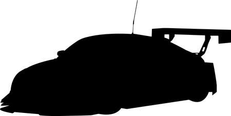 Auto Racing 5 isolated vector silhouette