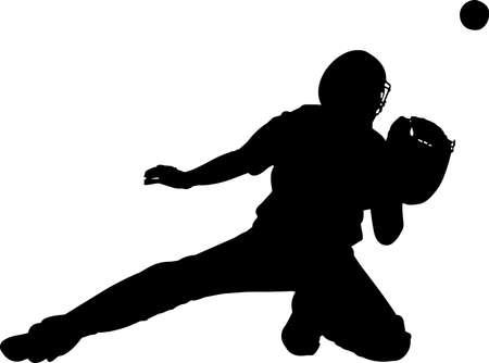 Baseball 6 isolated vector silhouette