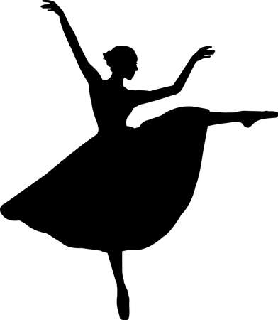 Ballet 9 isolated vector silhouette 矢量图像