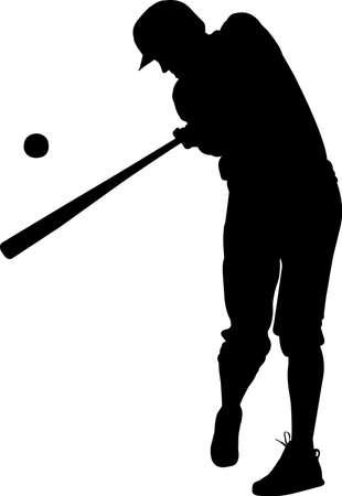 Baseball 4 isolated vector silhouette 矢量图像