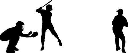 Baseball 10 isolated vector silhouette 矢量图像