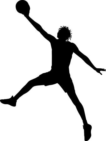 Basketball 10 isolated vector silhouette