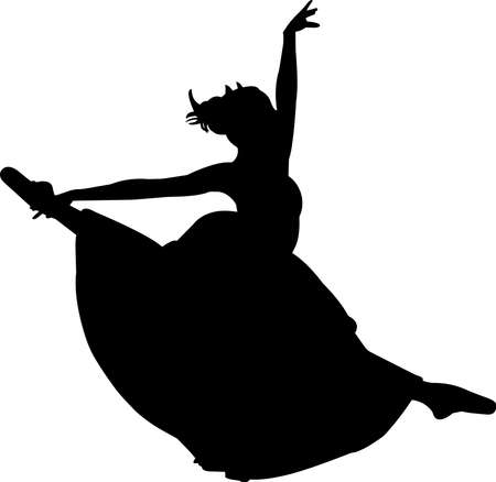 Ballet 10 isolated vector silhouette