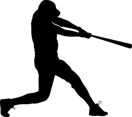 Baseball 3 isolated vector silhouette 矢量图像