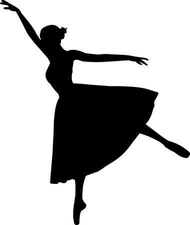 Ballet 6 isolated vector silhouette