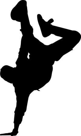 Break Dancing 2 isolated vector silhouette