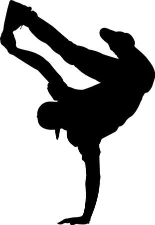 Break Dancing 10 isolated vector silhouette