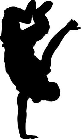 Break Dancing 7 isolated vector silhouette