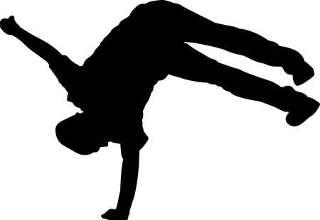 Break Dancing 8 isolated vector silhouette 矢量图像