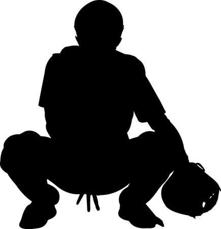 Baseball 5 isolated vector silhouette 矢量图像