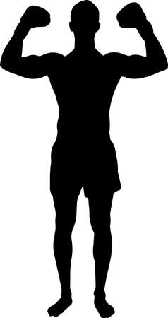 Boxing Men 4 isolated vector silhouette
