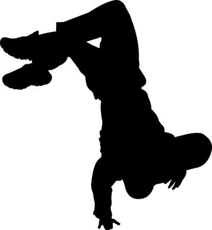 Break Dancing 5 isolated vector silhouette 矢量图像