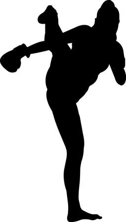 Boxing Women 2 isolated vector silhouette