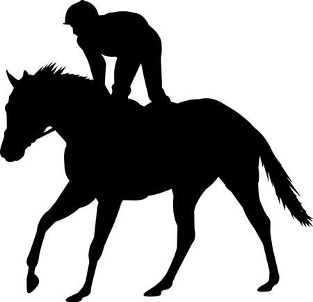 Horse Racing 5 isolated vector silhouette