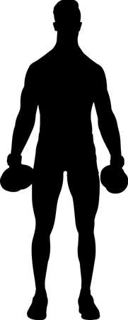 Fitness with Weights 8 isolated vector silhouette