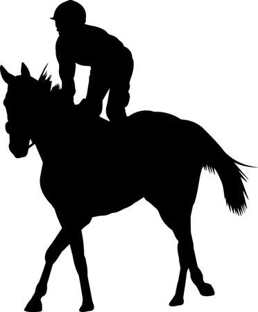 Horse Racing 8 isolated vector silhouette