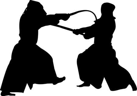 Kendo 4 isolated vector silhouette