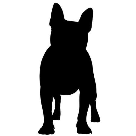 French Bulldog Dog Silhouette Vector Graphics