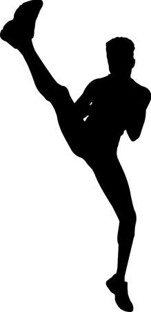 Kickboxing 5 isolated vector silhouette