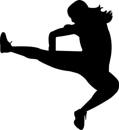Kickboxing 6 isolated vector silhouette