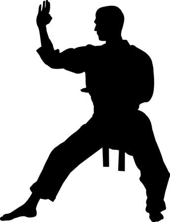 Karate 6 isolated vector silhouette