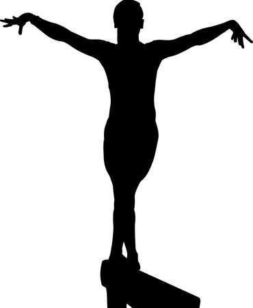 Gymnastics Women 2 isolated vector silhouette