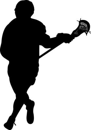 Lacrosse - Men 9 isolated vector silhouette